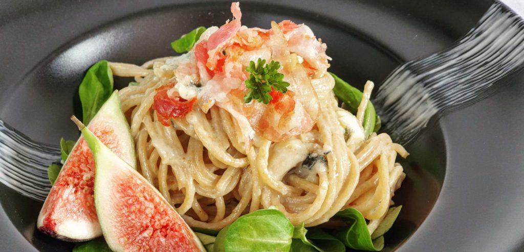 heerlijk recept voor spaghetti met blauwe kaas en vijgen