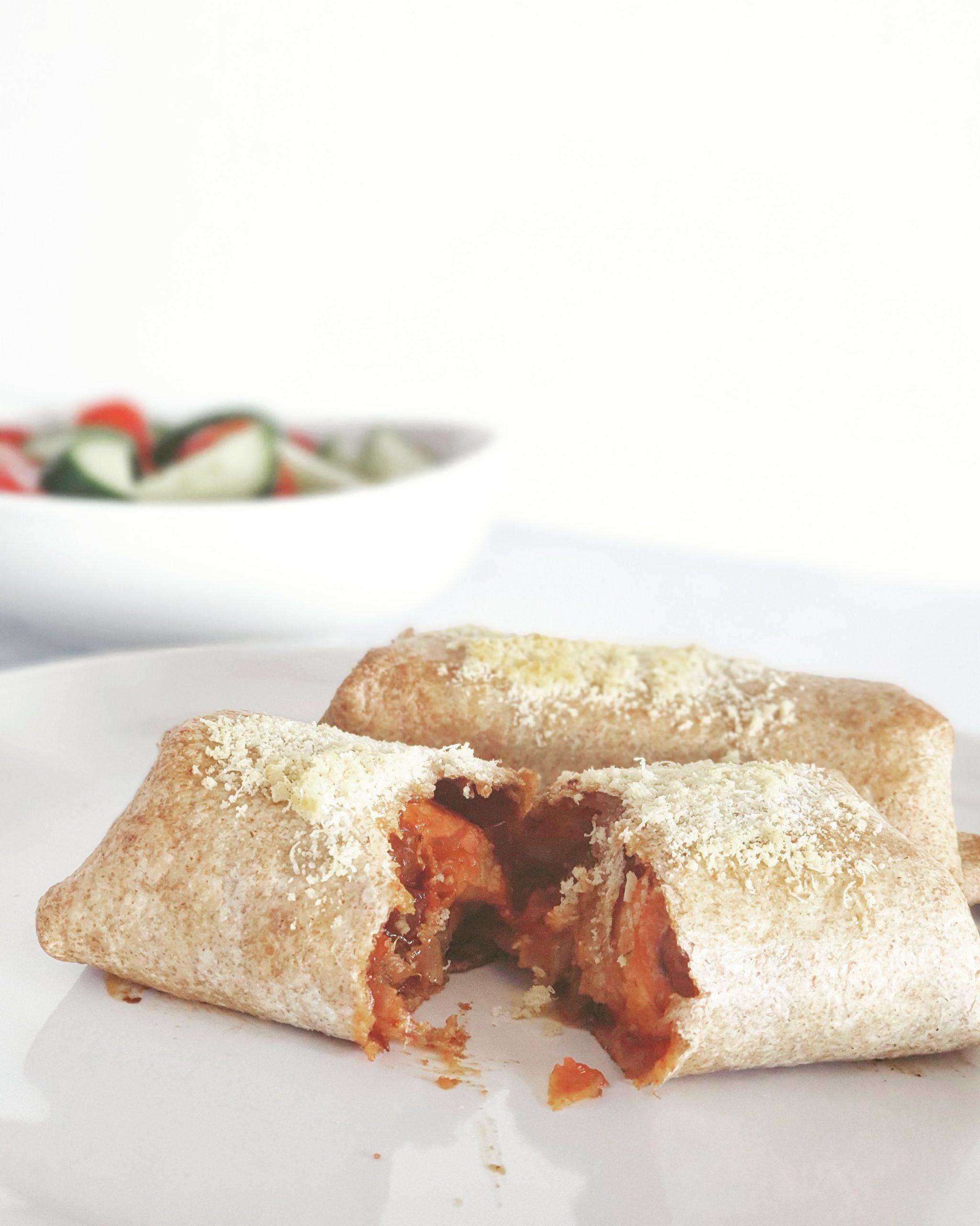 Kipburrito's uit de oven.