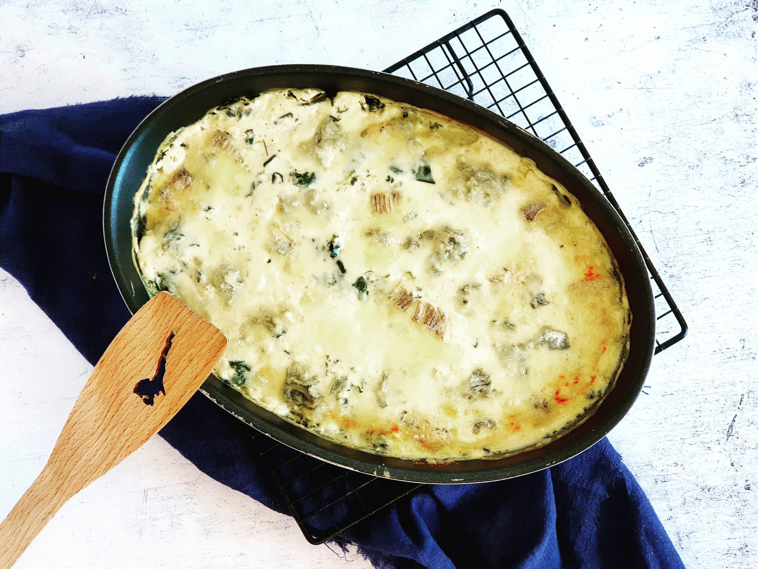 Gegratineerde spinazie-ovenschotel