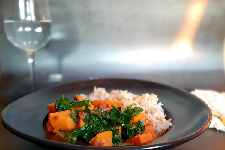 Curry zoete aardappel